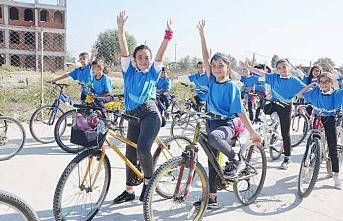"""Eskişehir'de """"Okuluma Bisikletimle Geliyorum Projesi"""" tanıtıldı"""