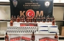 Eskişehir'de 42 şişe sahte içki ve 870 paket...