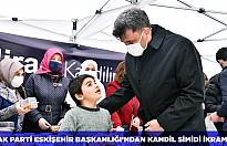 AK Parti Eskişehir Başkanlığı'ndan kandil simidi ikramı