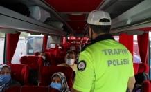 Eskişehir'de trafik ekipleri yolcu otobüslerini denetledi