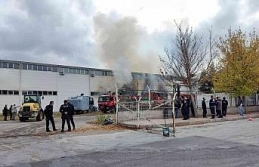 Eskişehir OSB'de fabrika yangını (1)