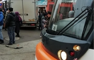 Eskişehir'de dün tramvayın çarptığı kişi,...