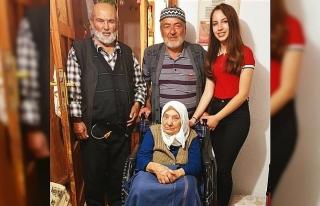 Mavi kapaklar 79 yaşındaki Nazlı teyzenin umudu...