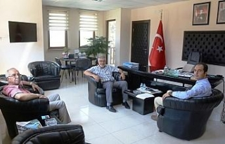 Kaymakam Uzan'dan Başkan Bozkurt'a ziyaret