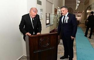 Cumhurbaşkanı Erdoğan restore edilen Cumhuriyet...