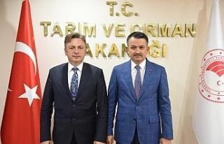 Rektör Şenocak'tan Bakanlar Pakdemirli ve Gül'e...