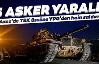 Azez'de TSK üssüne hain saldırı