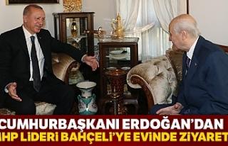 Cumhurbaşkanı Erdoğan, Bahçeli'yi evinde...