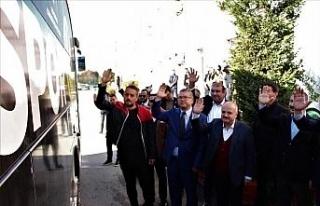Vali Çakacak ve Emniyet Müdürü Dinç, Es-Es kafilesini...