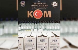 Polisin şüphelendiği araçtan 168 şişe kaçak...