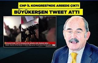 CHP İl Kongresi'nde arbede çıktı, Büyükerşen...