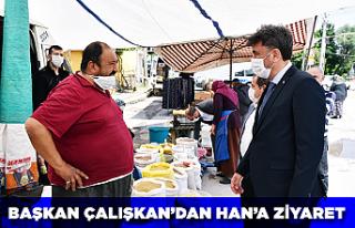 Başkan Çalışkan'dan Han'a ziyaret
