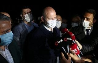 İçişleri Bakanı Soylu Bursa'da yaşanan sel...