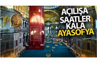 Açılışa saatler kala Ayasoyfa Camii içerisinden...
