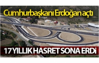 'Amasya Çevre Yolu'nu Cumhurbaşkanı Erdoğan...