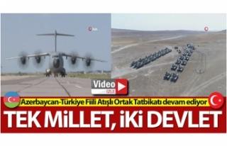 Azerbaycan-Türkiye Fiili Atışlı Ortak Tatbikatı...