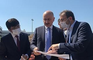 Bakan Karaismailoğlu havalimanı metro inşaatını...