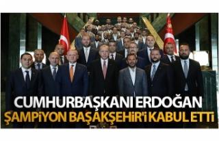 Cumhurbaşkanı Erdoğan, şampiyon Başakşehir'i...