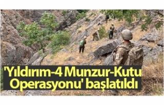 Tunceli'de 'Yıldırım-4 Munzur-Kutu Operasyonu'...