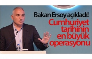Bakan Ersoy açıkladı! Cumhuriyet tarihinin en büyük...