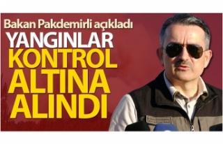 Bakan Pakdemirli: 'Uşak, İzmir, Denizli ve...