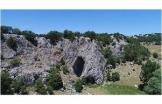 Bu mağaraya Eskişehir'den giren Bolu'dan...