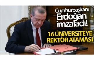 Cumhurbaşkanı Erdoğan imzaladı! 16 üniversiteye...