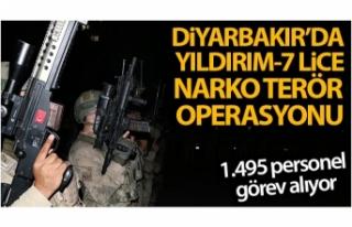 Diyarbakır'da Yıldırım-7 Lice Narko-Terör Operasyonu...