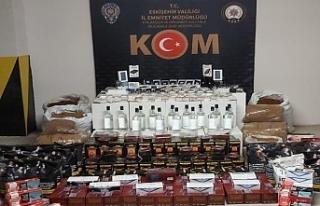 Eskişehir'de çok miktarda etil alkol ve kaçak...