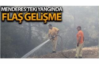 Menderes'teki orman yangınıyla ilgili flaş...