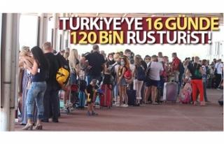 Türkiye'ye 16 günde 120 bin Rus turist gitti