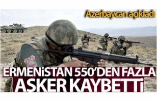 Azerbaycan: 'Ermenistan Ordusu 550'den fazla...