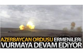 Azerbaycan ordusu, Ermeni ordusuna ait hedefleri vurmaya...