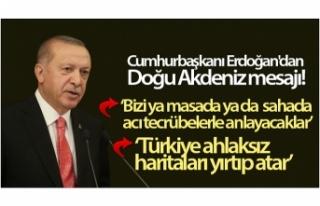 Cumhurbaşkanı Erdoğan'dan Doğu Akdeniz mesajı:...