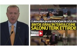 Cumhurbaşkanı Erdoğan'ın sözleri, BM'de...