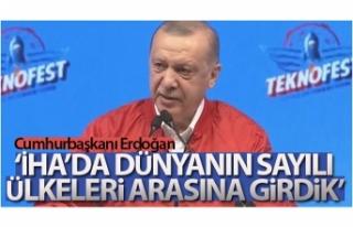 Cumhurbaşkanı Erdoğan Teknofest ödül töreninde...
