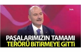 İçişleri Bakanı Süleyman Soylu: 'Paşalarımızın...