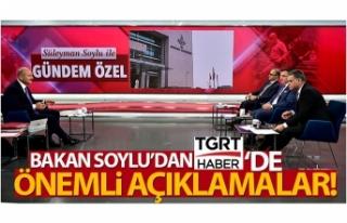 İçişleri Bakanı Süleyman Soylu, TGRT Haber canlı...