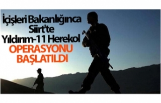İçişleri Bakanlığınca Siirt'te Yıldırım-11...