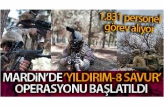 Mardin'de 'Yıldırım-8 Savur' operasyonu...