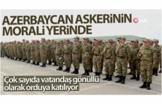Azerbaycan askerinin morali yerinde