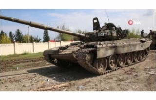 Azerbaycan, Ermenistan ordusunu ait çok sayıda tankı...