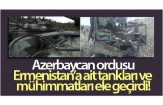 Azerbaycan ordusu, Ermenistan'a ait tankları...