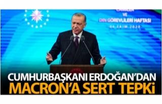 Cumhurbaşkanı Erdoğan'dan Macron'a tepki:...