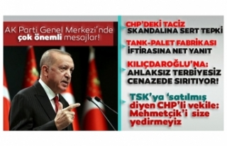 Başkan Erdoğan'dan CHP'deki taciz ve tecavüz...