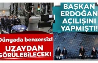 Türkiye'nin ilk entegre güneş paneli fabrikasında...