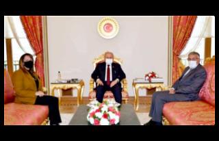 Günay TBMM Başkanı Mustafa Şentop ve Bakan Kasapoğlu...