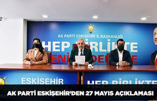 AK Parti Eskişehir'den 27 Mayıs açıklaması