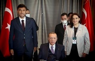 Başkan Çalışkan Cumhurbaşkanı Recep Tayyip Erdoğan'ı...