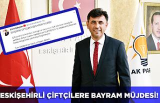Başkan Çalışkan'dan Eskişehirli çiftçilere...